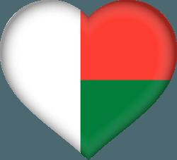 علم مدغشقر على شكل قلب