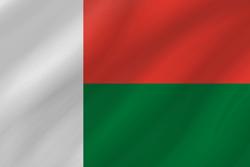 علم مدغشقر على شكل موجه