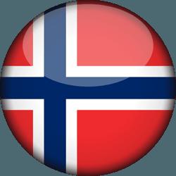 علم النرويج دائري / ثري-دي 3D