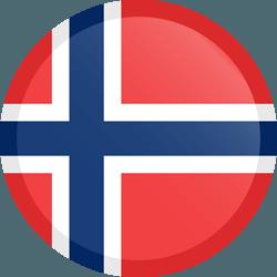 علم النرويج مربع دائري بحدود