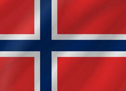 علم النرويج على شكل موجه