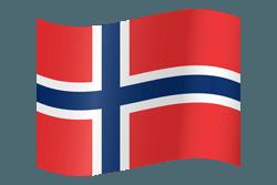 علم النرويج على شكل مموج