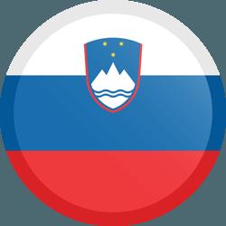 علم سلوفينيا مربع دائري بحدود