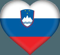 علم سلوفينيا على شكل قلب