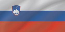 علم سلوفينيا على شكل موجه