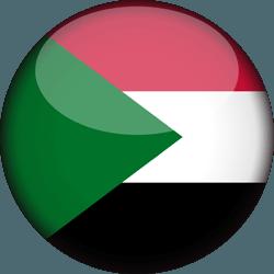 علم السودان دائري / ثري-دي 3D