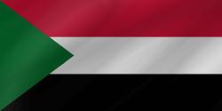علم السودان على شكل موجه
