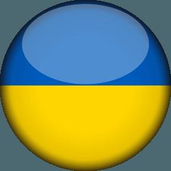 علم أوكرانيا دائري / ثري-دي 3D