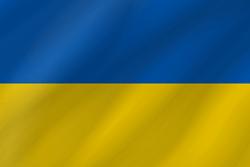 علم أوكرانيا على شكل موجه