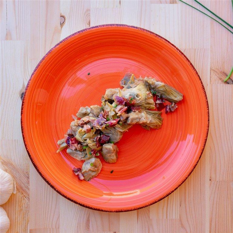 Alcachofas salteadas con jamón, 1 ud