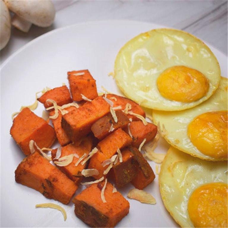 Boniato con huevos camperos L