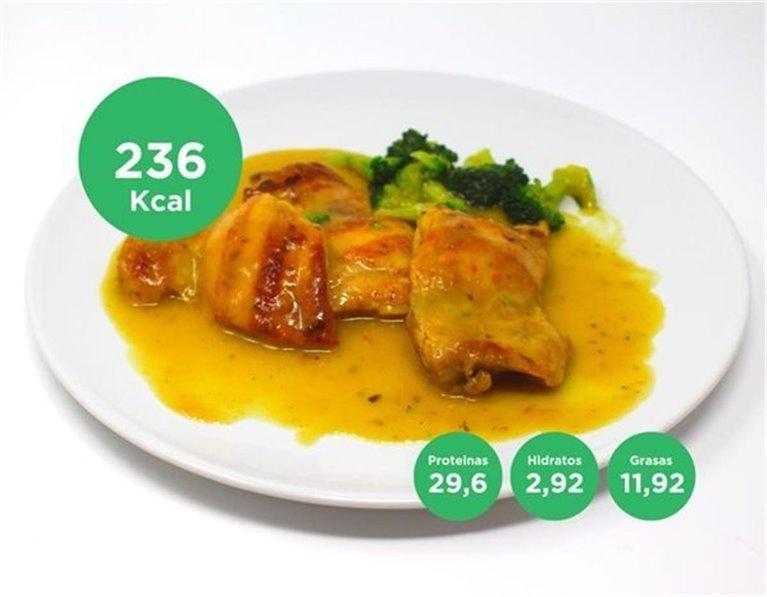 Contramuslo de pollo al azafrán