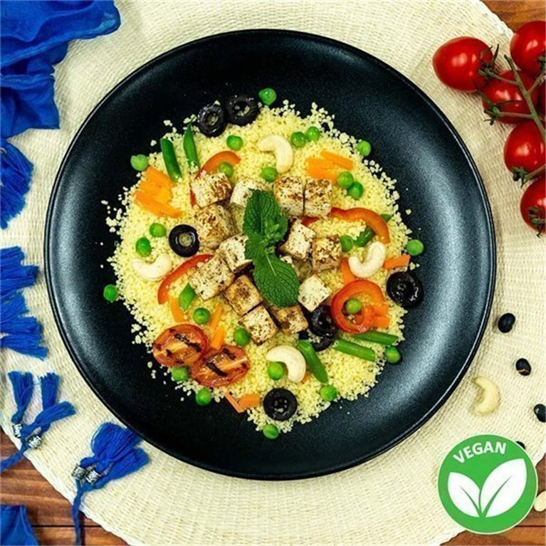 Cous cous con tofu oriental