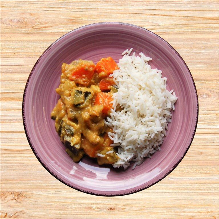 curry tailandés de verduras, 1 ud