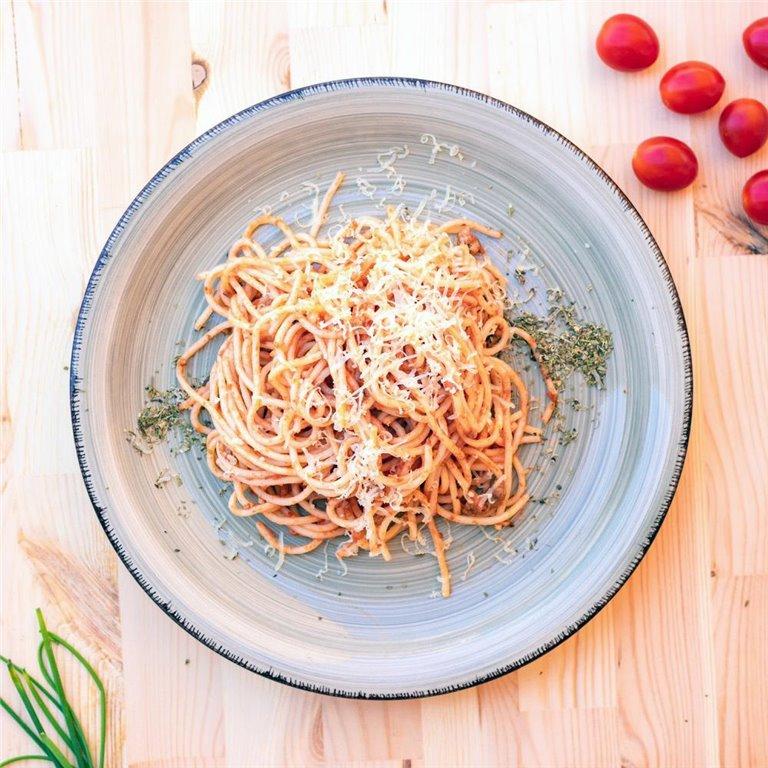 Espaguetis a la boloñesa, 1 ud