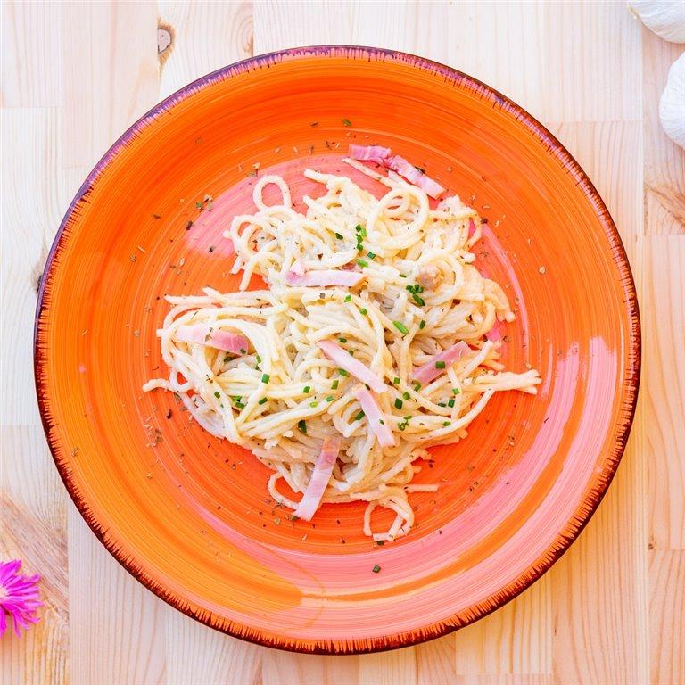Espaguetis a la carbonara, 1 ud