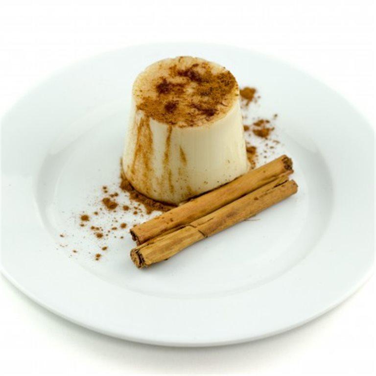 Flan de polea con caramelo sin azúcar con edulcorantes