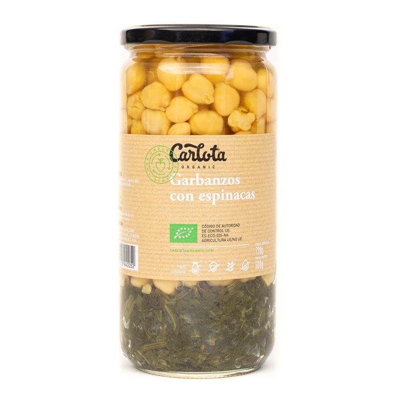Garbanzos con espinacas 720g