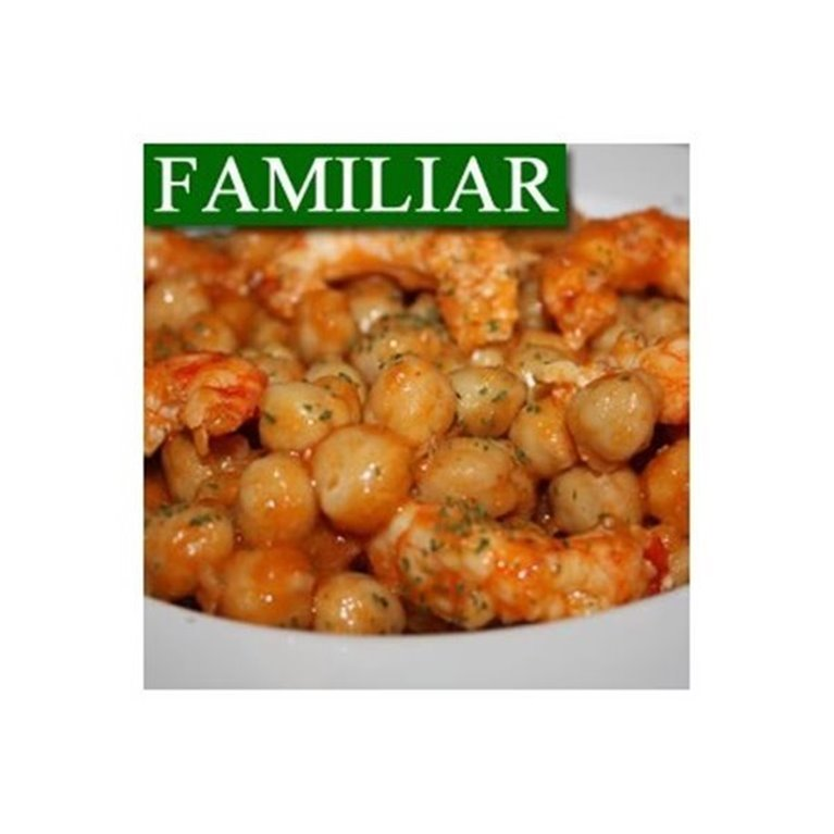 Garbanzos con Langostinos y Chorizo FAMILIAR
