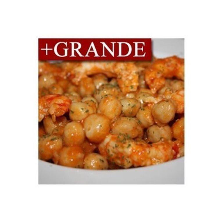Garbanzos con Langostinos y Chorizo +GRANDE