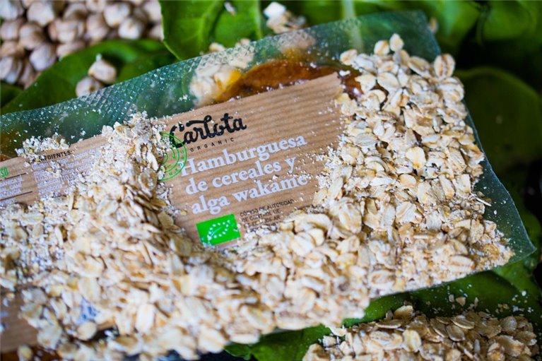 Hamburguesa de cereales y alga wakame 160g