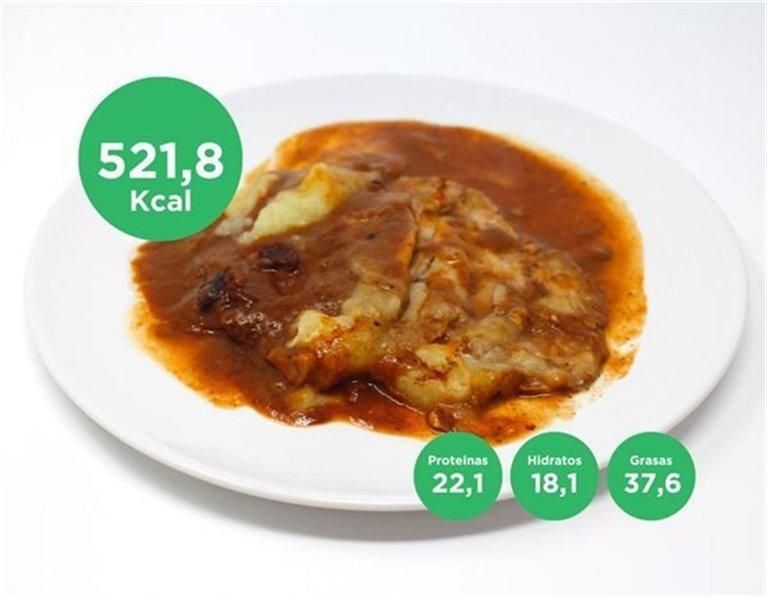 Lomo de cerdo con salsa de ciruelas