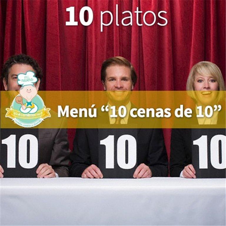 Menú 10 Cenas de 10