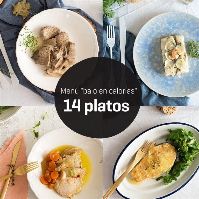 Menú bajo en calorías 14 platos