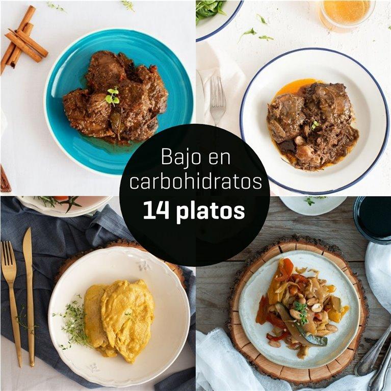 Menú bajo en carbohidratos 14 platos.