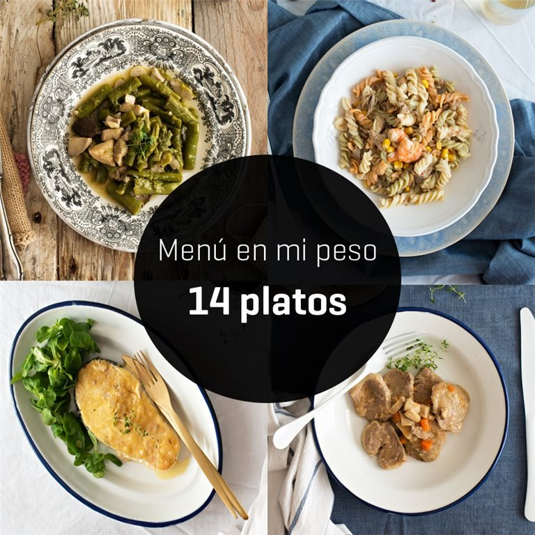 "Menú ""en mi peso"" 14 platos"