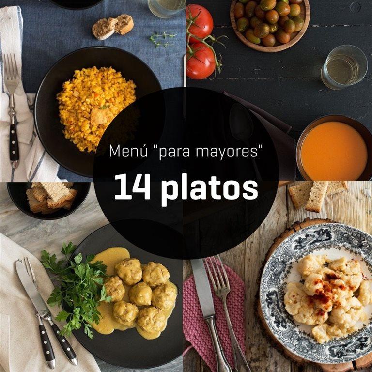 """Menú """"para mayores"""" de 14 platos - semana 2"""