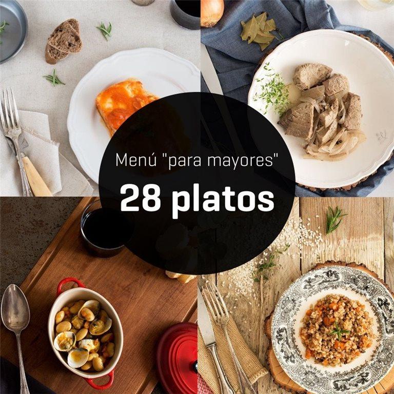 """Menú """"para mayores"""" de 28 platos - 2 semanas"""