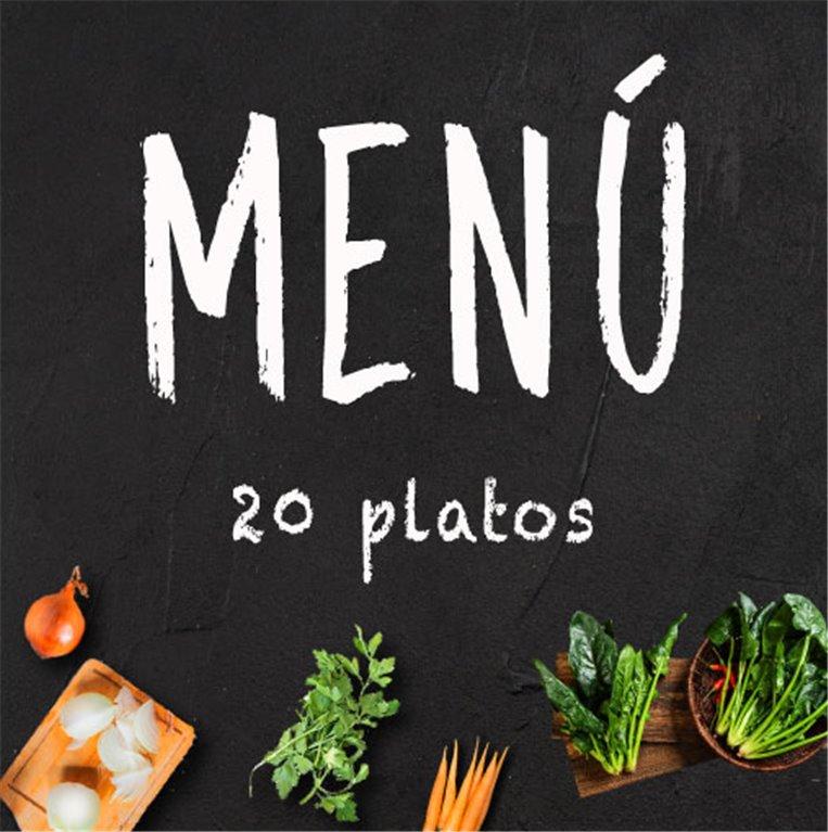 Menú semanal de 20 platos a escoger
