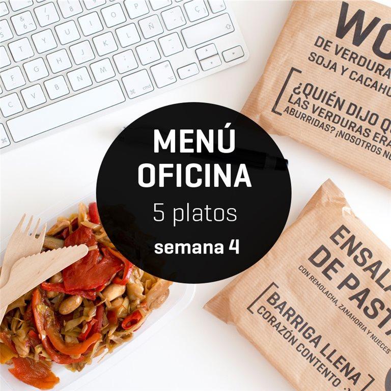 Menú semanal oficina 5 platos Semana 4