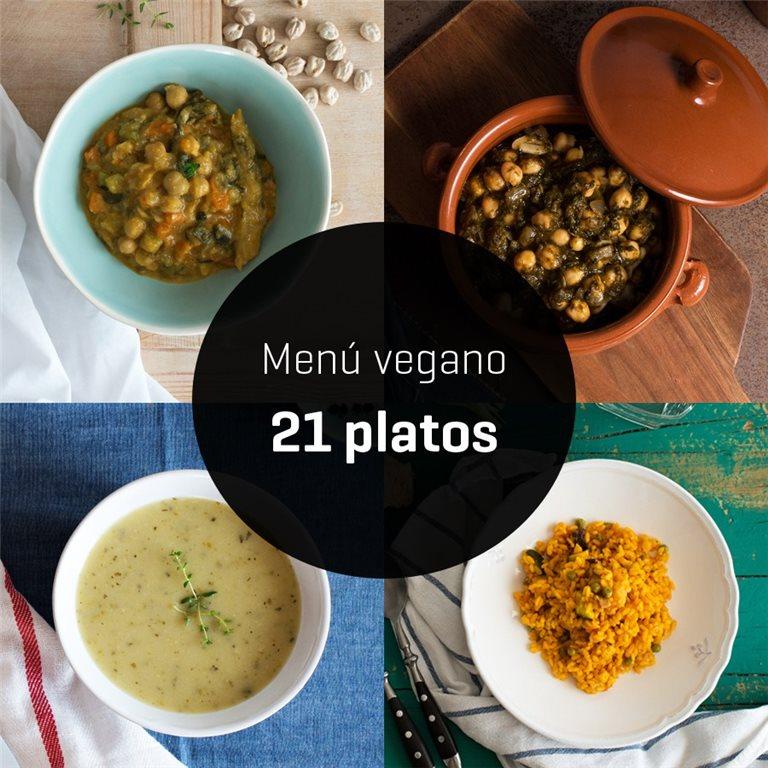 Menú vegano 21 platos