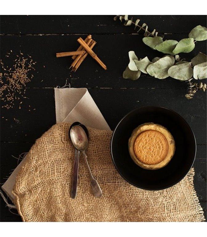 Natillas caseras con galleta y canela
