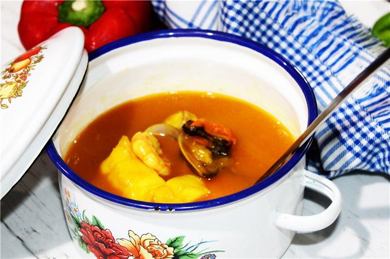 Nuestra sopa de Pescado y Marisco