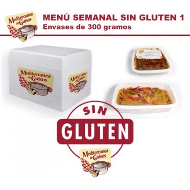 Pack Menú Semanal Sin Gluten 1. CERTIFICADO POR ASPROCESE.