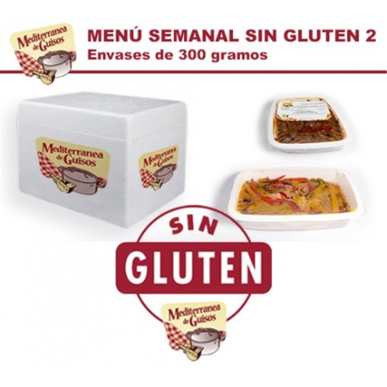 Pack Menú Semanal Sin Gluten 2. CERTIFICADO POR ASPROCESE.