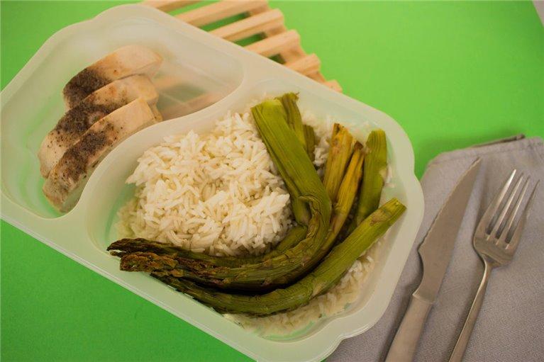Pechuga de pollo con arroz y espárragos (L1)
