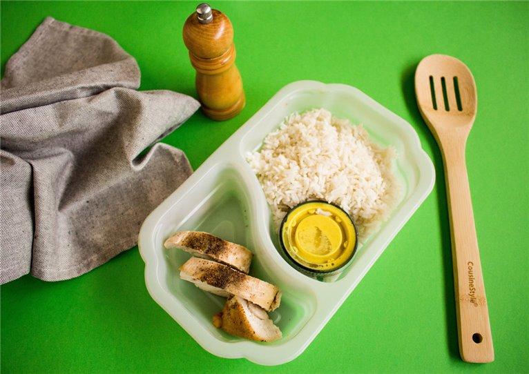 Pechuga de pollo con arroz y salsa curry (H4)