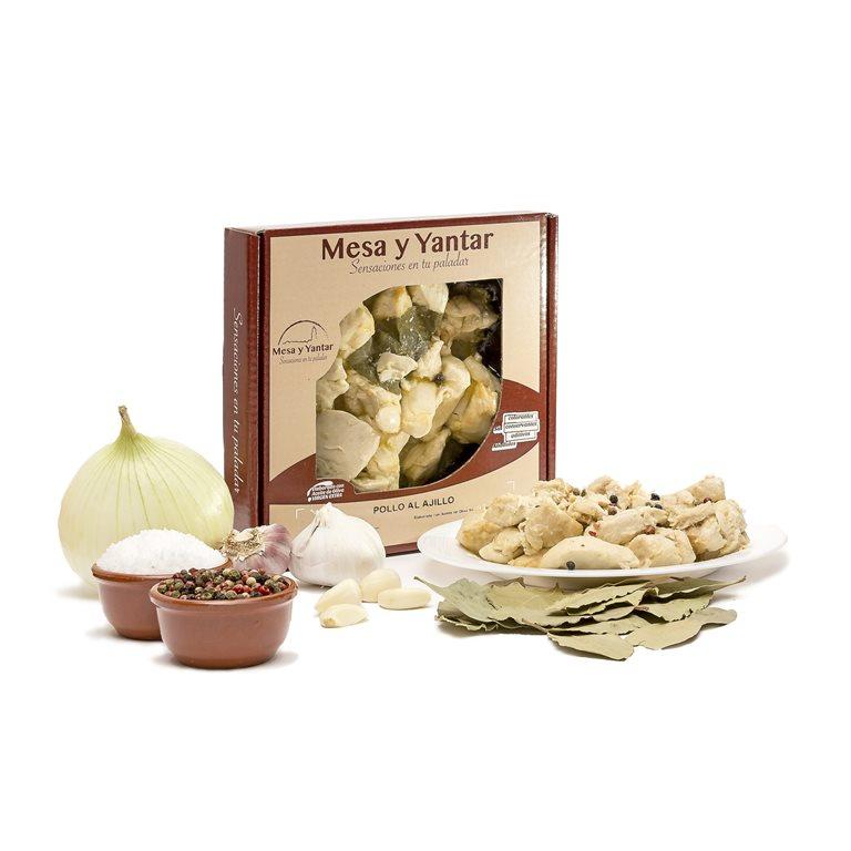 Pollo al ajillo 450gr