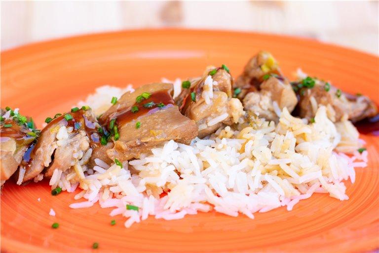 Pollo teriyaki con arroz basmati, 1 ud