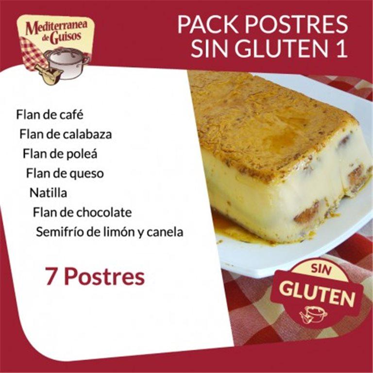 Postres Pack Sin Gluten 1 (7 Postres). Asesorados por ASPROCESE-FACE RESTAURACIÓN.