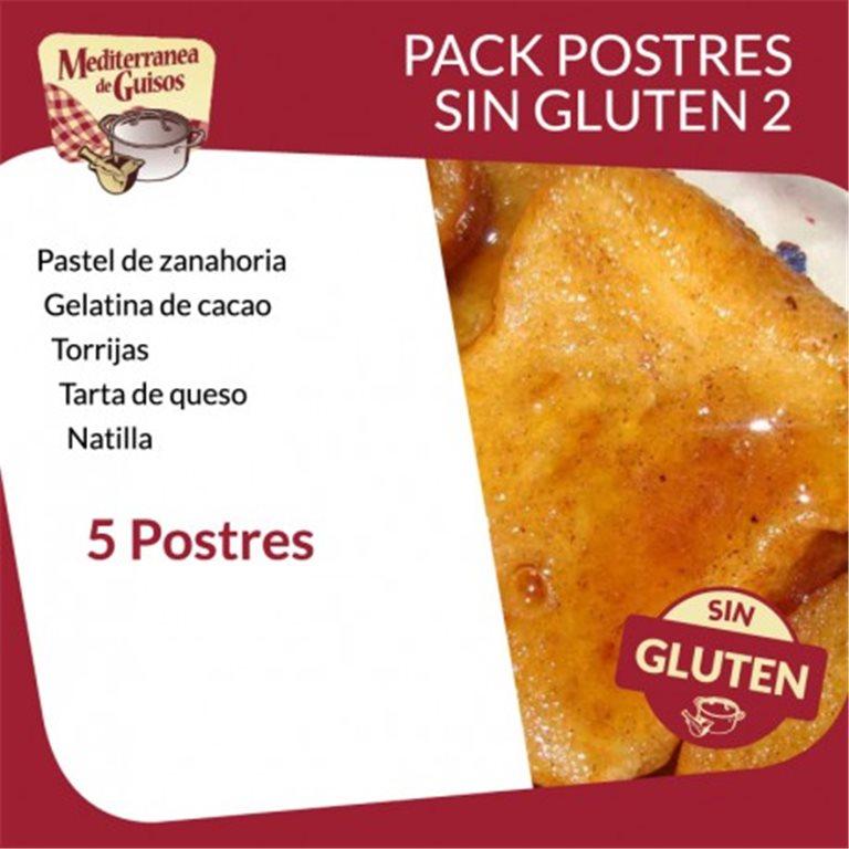 Postres Pack Sin Gluten 2 (5 Postres). Asesorados por ASPROCESE-FACE RESTAURACIÓN.