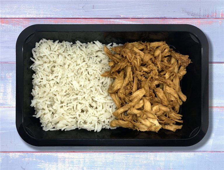 Pulled chicken breast con arroz basmati Gainz (LF1G)