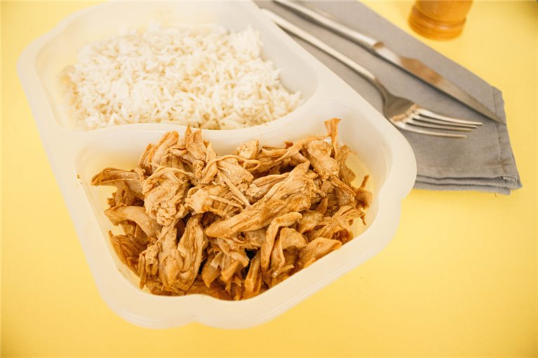 Pulled chicken breast con arroz basmati (LF1)