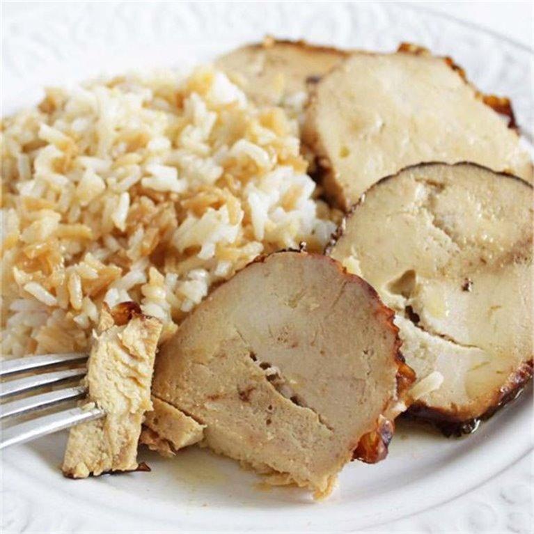 Rotti de pollo con guarnición