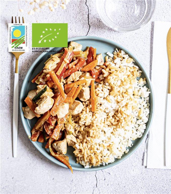 Salteado chop-suey de pollo y verduras