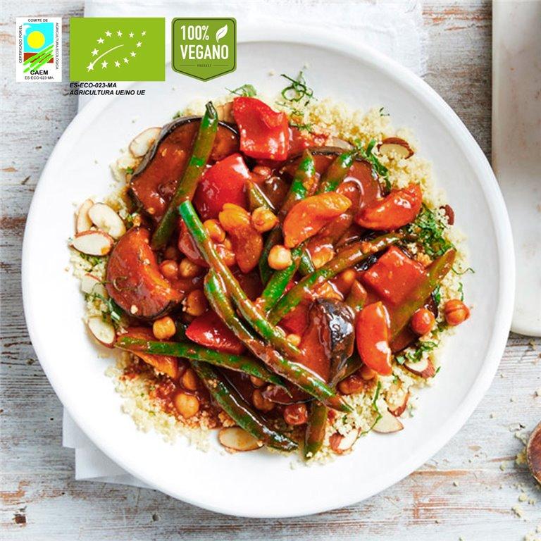 Tajine marroquí vegano BIO con cous-cous